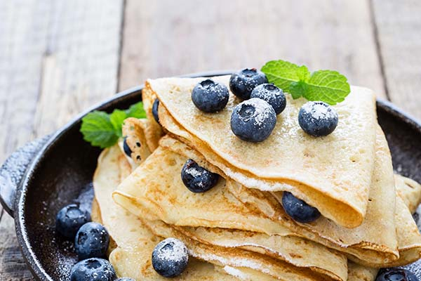 Crepes met vers fruit